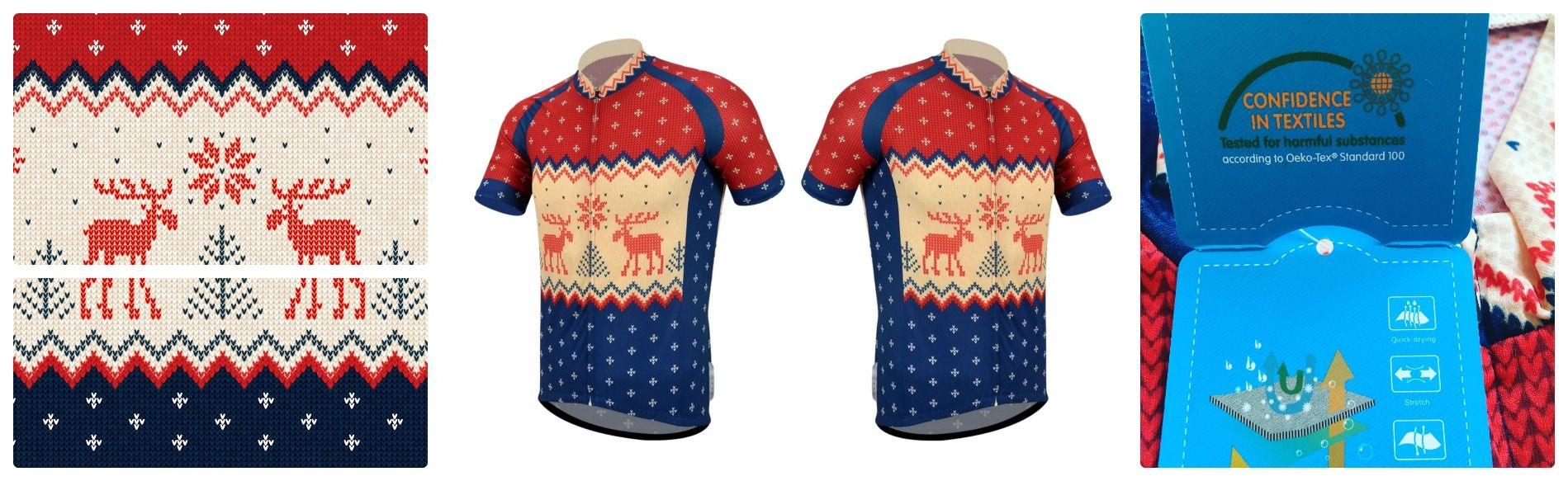 christmas jumper cycle jersey