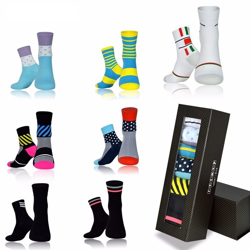 7 Piece CoolMax Cycling Socks Gift Box