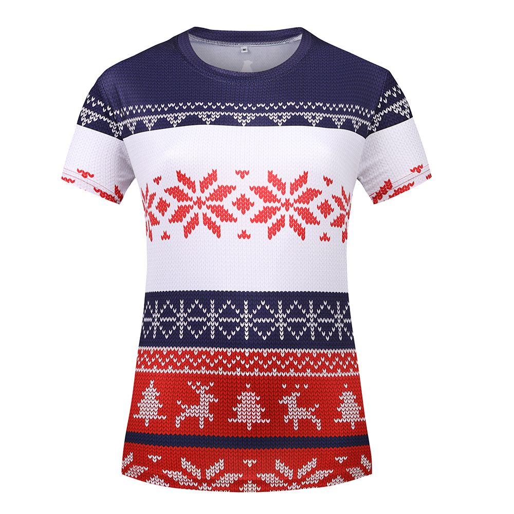 Womens Christmas Jumper Print Running Top 1